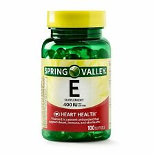 Vitamin E Heart Health Supplement 100 Softgel Capsules