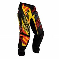 PANTALON CROSS SHOT FREEGUN BANDANA JAUNE/ROUGE TAILLE 30US 40 EU