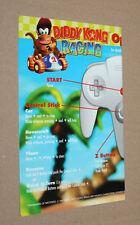 DIDDY KONG RACING NINTENDO 64 N64 OPERATION CARD English Karte Werbung Flyer