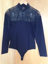 Arefeva black bodysuit, floral pattern lace, Size L
