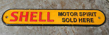 SUPERB HEAVY CAST IRON SHELL MOTOR SPIRIT SOLD HERE ADVERTISING SIGN