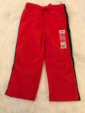 Boys Nwt by OshKosh B'Gosh Sz 3T Red Navy Windbreaker Pants Inside Netting
