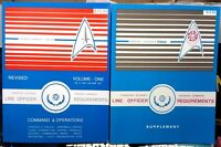 1980s Star Trek Officer Requirements Set of 2 Reference Books-150+ Pages- Unread