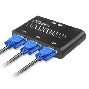 2 Ports VGA Switcher Splitter VGA Videos Switch Adapters Converter Box for PC^