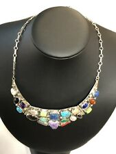 Emer Thompson Sterling Silver Multi Gemstone Necklace #771