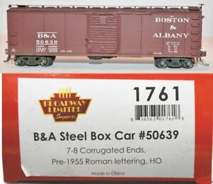 Boston & Albany 50639 7-8 Corrugated Ends Broadway Limited 1761 HO Scale MR5.39
