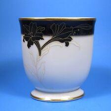 Noritake Legacy Giftware Oval Vase Cobalt Blue & Gold Flowers