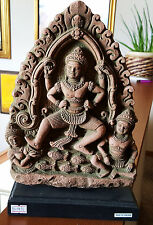Hindu God Vishnu Hand Carved Rare Sculpture Statue