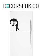 Penguin Fridge Stickers on black vinyl on A4 size - Kitchen Stickers