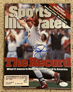MARK MCGWIRE Signed 9/14/98 1998 Baseball Sports Illustrated JSA WP802625