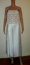 GILEAD Size S Solid  White Lace Spaghetti Straps Sleepwear  Nightgown Lingery