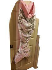 Cynthia Rowley Sequins Mermaid Tail Snuggle Wrap Blanket Sleeping Bag Pink
