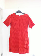 Size 10 FRENCH CONNECTION Cotton Broderie Anglais Dress In Terracotta Orange