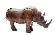 "Large 12"" Metal Rhinoceros Copper Wash"