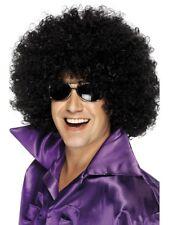 AÑOS 70 MEGA Enorme Peluca Afro Negro Grande Rizado Disfraz 1970s Disco