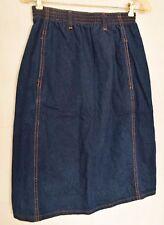 Wrangler Blue Denim Knee Length Skirt 2 Pocket, Belt Loop Size M