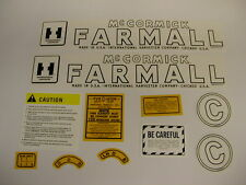 IHC Farmall Model C Tractor Decal Set - NEW FREE SHIPPING