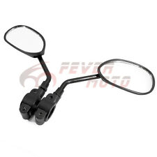 "Black For 7/8"" Handlebar Motorcycle Bicycle Side Rear View Mirror Universal FM"
