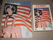 OLD GLORY JIGSAW PUZZLE MILTON BRADLEY 1972 EXCELLENT CONDITION