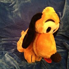 "Pluto Plush Mickey's DogVTG  Walt Disney Stuffed Animal Soft Toy 10"" VTG Lovey"