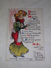 VINTAGE 1906 DEAR SCHOOL MARM  POSTCARD