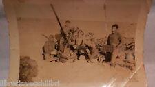 postazione antiaerea Nord Africa mitragliera Breda 20/65 Mod 1935 serventi della