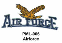 """AIRFORCE Embroidered Military Large Patch, 4"""""""