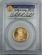 1999-W $10 American Gold Eagle, PCGS MS-69, Emergency Issue, Diehl Autographed.