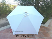 9ft Patio Outdoor Market Umbrella Replacement Canopy Cover Top 6 ribs. Off-White