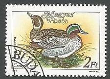 Hungary Scott# 3136, Ducks (Anas Crecca) Unused CTO, FG, NH, 1988