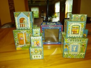 2005 WJ Fantasy - My Stack & Play CASTLE Stacking BUILDING Blocks - 9 Pieces