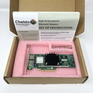 CHELSIO T580-LP-CR 2-Port 10/40GbE Low Profile UWire Adapter w/ PCI-E x8 Gen 3..