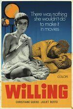 WILLING CINE-GIRL one sheet movie poster 27x41 JULIET BERTO JEAN-LUC GODARD RARE