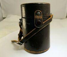 "Nikon Nippon Kogaku Tokyo  Brown Leather Vintage Lens Case 5"" tall x 3""w 85mm"
