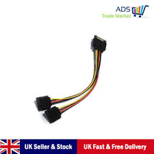 SATA Power Cable Male To 2 Female Adapter