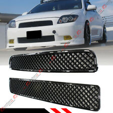 FOR 05-10 SCION TC GLOSSY BLK JDM FRONT HOOD ABS MESH UPPER + LOWER GRILL GRILLE