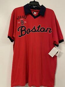 Boston Red Sox Genuine Merchandise Mens Collared T-Shirt NWT Size Medium