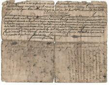 1771 & 1778 King louis XVI Baron autograph manuscript sale contract document 4p