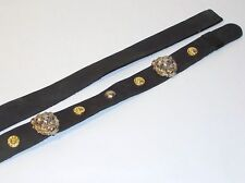 Leather Black Lion Head Studded Hat Band Western Cowboy Millinery Supplies [#3Q]
