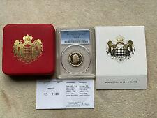 MONACO 20 € GOLD 2008, ALBERT II, Mintage 3 000 pieces, graded PCGS PR69, + Box