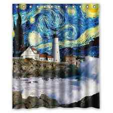 Hot Selling Custom Lighthouse With Doctor Who Fabric Shower Curtain 60x72 Inch