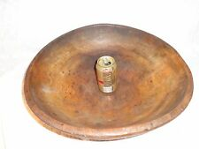 Large Antique Turned Maple Wood Bowl, Primitive