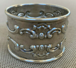 Gorham Sterling Silver Napkin Ring 1150 Strasbourg Holloware Antique Hallmarks