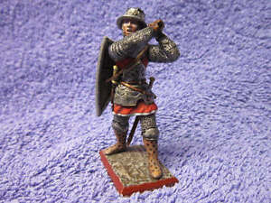 Highly Detailed Saint Petersburg Russian made Painted Metal Crusader with mace