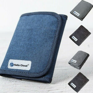 丿丿Men's Wallet Linen Hemp Pure Cotton Color Small Minimalist Money  Card Package