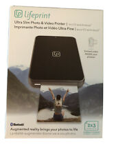 Lifeprint Ultra Slim Printer | Portable Bluetooth Photo, Video New!!! 2x3