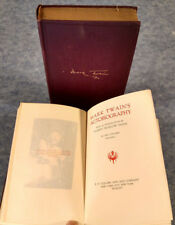1925 MARK TWAIN AUTOBIOGRAPHY 2 VOLUME BOOK SET