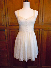 Aritzia Talula Dress Lace Ivory Sleeveless Cocktail Size 8