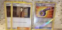 Pokémon TCG 2x Looker 126/156 And Looker Whistle 127/156 Reverse Holo Trainer
