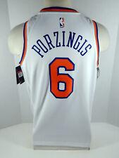 Mens New York Knicks Kristaps Porzingis #6 White Assoc Jersey Swingman M Nike